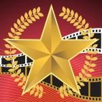Movie Background: Star — Stock Vector