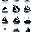 Water Vessels — Stock Vector