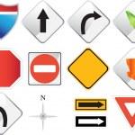 iconos de navegación Road — Vector de stock
