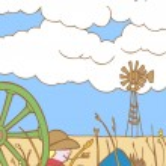 Cowboy in Nebraska — Stock Vector #3989681