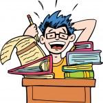 inga mer läxor — Stockvektor