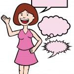 Speaking Woman — Stock Vector