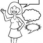 Speaking Woman — Stock Vector #3989803
