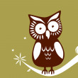 Stock Vector: Owl