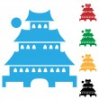 Royalty-Free Stock Vector Image: Pagoda