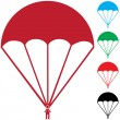 Stock Vector: Set of Paratroopers