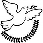 Bandiera di pace — Vettoriale Stock
