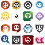 segno di pace — Vettoriale Stock
