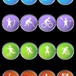 Athlete Icons — Stock Vector