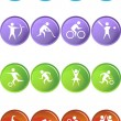 Stock Vector: Athlete Icons