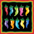Royalty-Free Stock Vector Image: Set of Chili Peppers