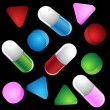 3d pills — Stock Vector