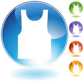 Tanktop Crystal Icon — Stock Vector