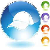 Baseball cap Crystal Icon Set — Stock Vector