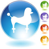 Poodle Icon Set — Stock Vector