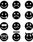 Emoticon Icon Set — Stock Vector
