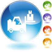 Warehouse Forklift Icon — Stock Vector