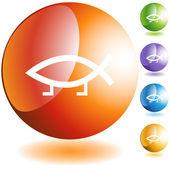 Darwin Fish Icon — Stock Vector