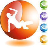 Breakdancer Icon — Stock Vector