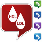 HDL LDL Cholesterol — Stock Vector