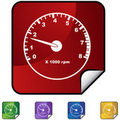 Tachometer — Stock Vector