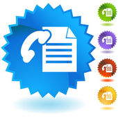 Fax Document — Stock Vector