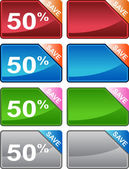 Discount Price Tag Set — Vector de stock