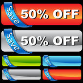 Discount Ribbon Bar Set — Vector de stock