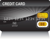 Credit Card Black Gold — Stock Vector