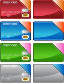 Kreditkarte-vielfalt — Stockvektor