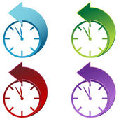 Lumière du jour d'épargne temps horloge — Vecteur