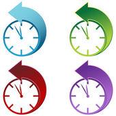 Ora legale risparmi tempo orologio — Vettoriale Stock