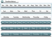Timeline Menu Bars — Stock Vector