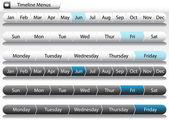 Timeline Menu Arrows — Stock Vector