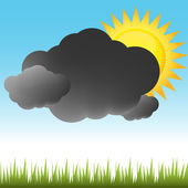 Partly Sunny Weather — Stock Vector