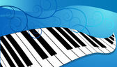 Piano Keyboard — Stock Vector