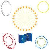 Círculo de estrella oro — Vector de stock