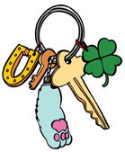 Lucky Keychain — Stock Vector