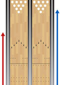 Bowling Lane Chart — Vettoriale Stock