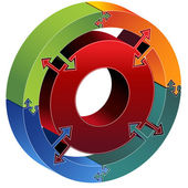 Process Circle Diagram — Stock Vector