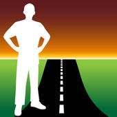 Road to Success — Stock Vector