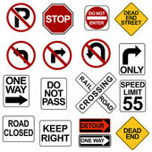 Road Sign Set — Stockvector