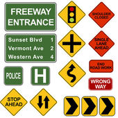 Road Signposts — Stock Vector