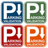 Parking Validation Sign — Stock Vector