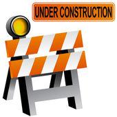 Construction Barricade — Stock Vector
