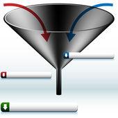 Funnel Diagram — Stock Vector