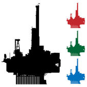Oil Rig — Stock Vector