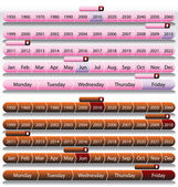 Pink Timeline Chart Set — Stock Vector