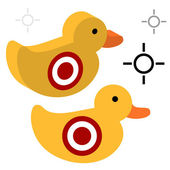 Duck Shooting Target — Stock Vector