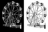 Roda gigante — Vetor de Stock